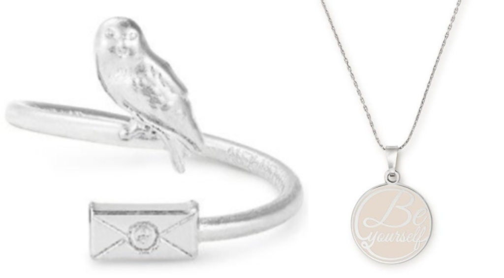 Alex and Ani Be yourself and harry potter ring