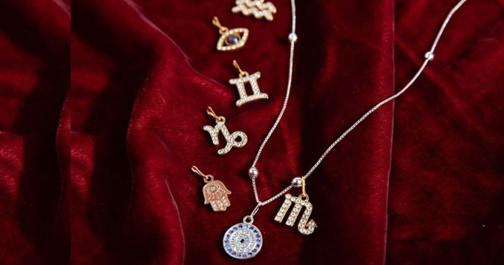 alex and ani personalized jewelry on red velvet