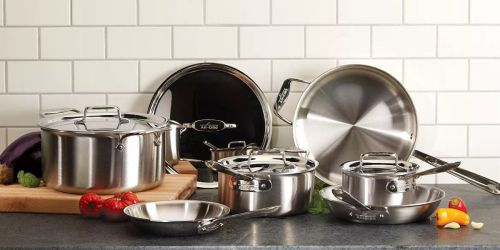 All-Clad D5 Stainless Brushed 10-Piece Set as Low as $489.99 Shipped – $1,425 Value
