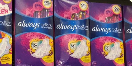 Up to 60% Off Always Pads Multi-Packs at Amazon + Free Shipping
