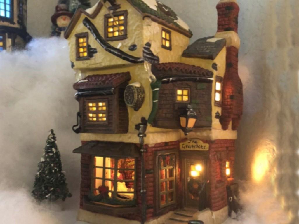 Department 56 Dickens' Village Cratchits Corner Lit Building