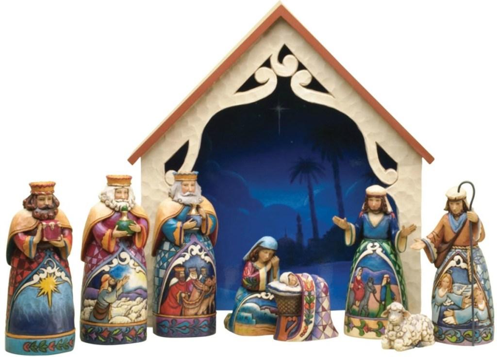 "Jim Shore Heartwood Creek 9-Piece Mini Nativity Set Stone Resin Figurine, 9.75"" Amazon"