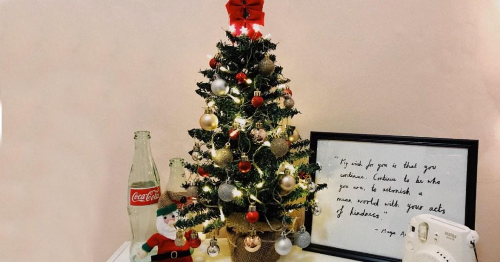 amazon Kurt Adler 18-Inch Mini Pine Tree