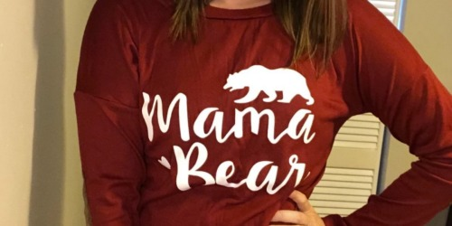 Mama Bear Long Sleeve Tees Only $12.99 on Amazon | Great Reviews