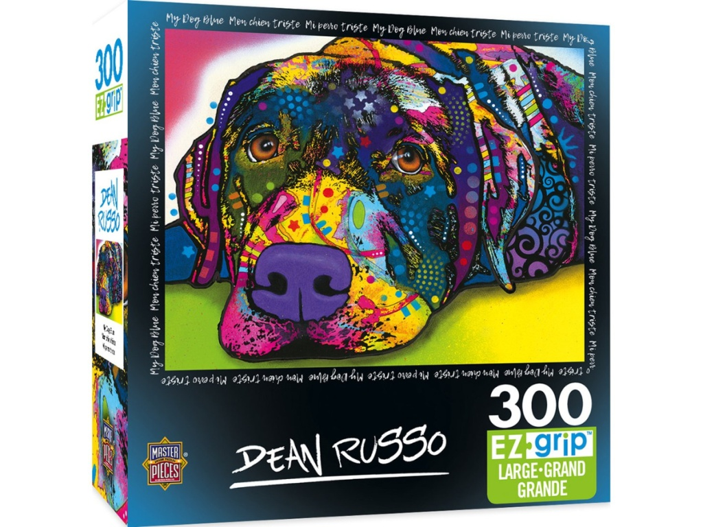 Masterpieces Colorful dog puzzle on amazon