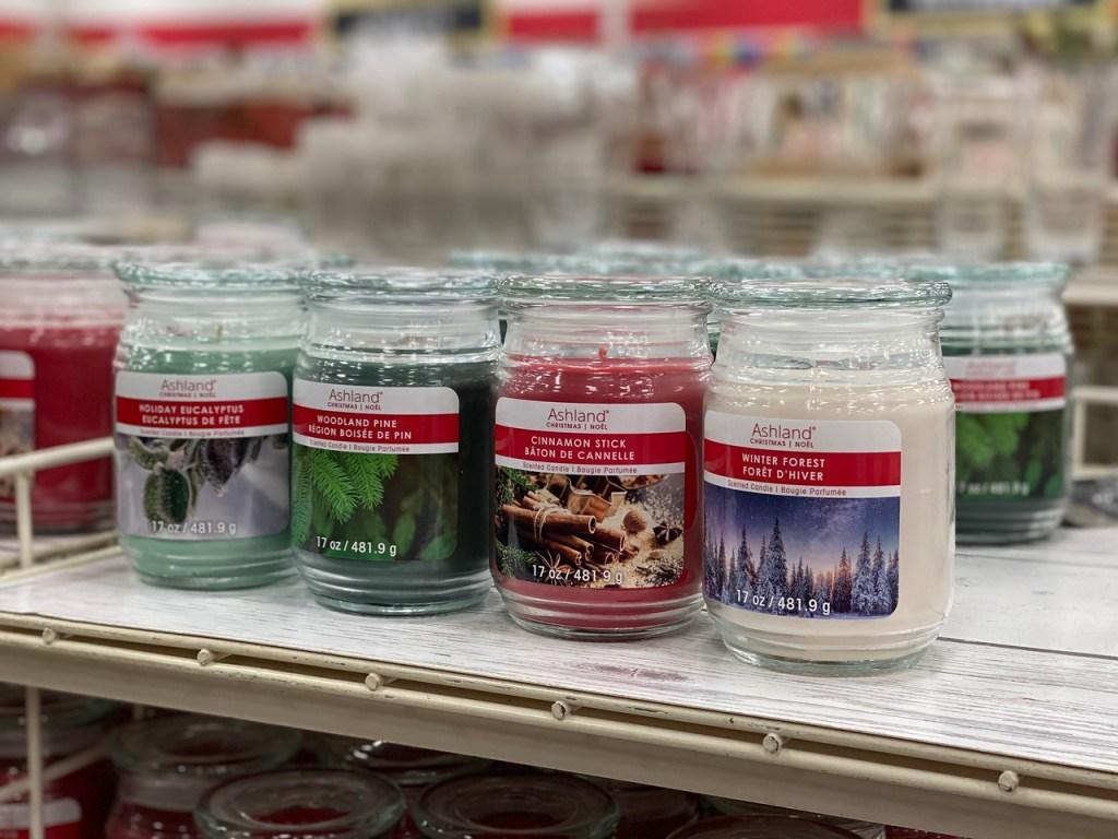 Ashland Candles on Michaels shelf