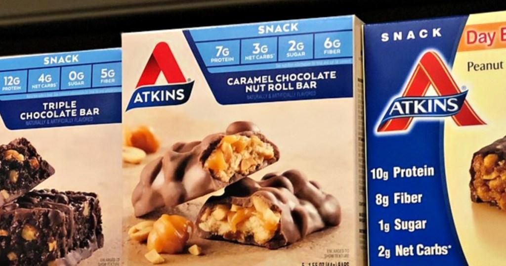 Atkins Snack Bar 8-Count - Caramel Chocolate Nut Roll