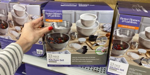 Better Homes & Gardens 23-Piece Stainless Steel Prep Set as Low as $5 at Walmart | In-Store Only