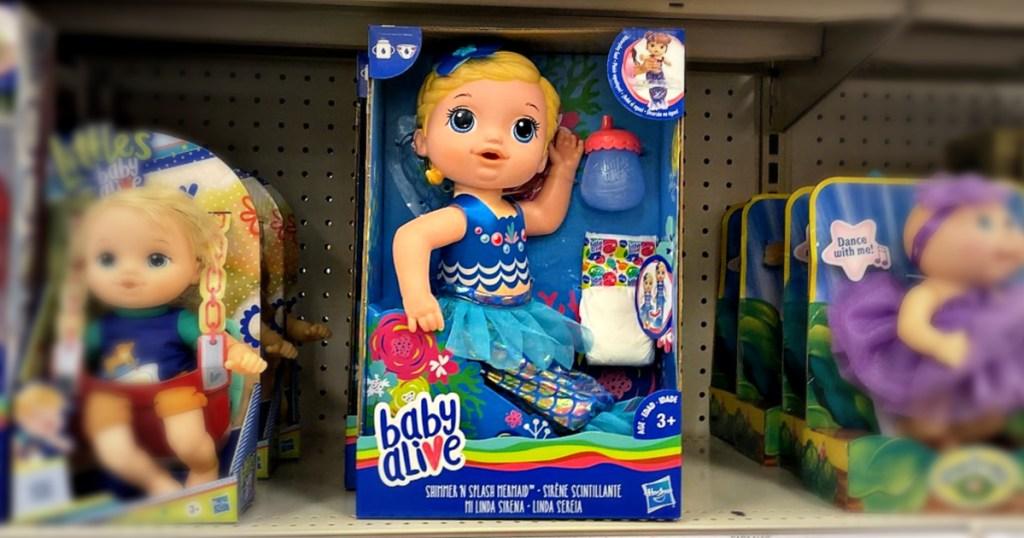 Baby Alive Shimmer 'n Splash Mermaid Baby Doll