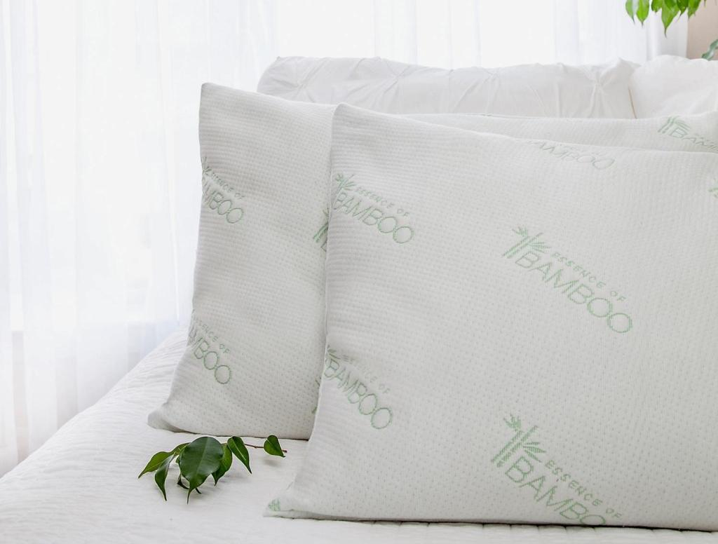Bamboo Pillows on bed