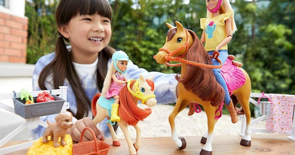 Barbie Horse Set