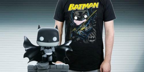 Funko POP! Figure & T-Shirt Gift Sets Only $10 at Gamestop (Regularly $30) | Batman, Sonic The Hedgehog & More