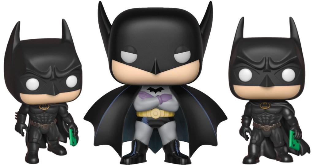 two different Batman Funko Pop! figures