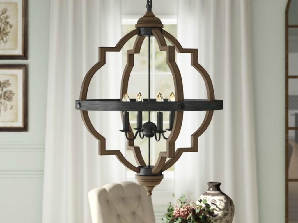 Bennington 4-Light Candle Style Geometric Chandelier