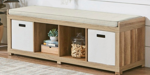 Better Homes & Gardens 4-Cube Storage Bench Only $59.99 Shipped at Walmart (Regularly $100)