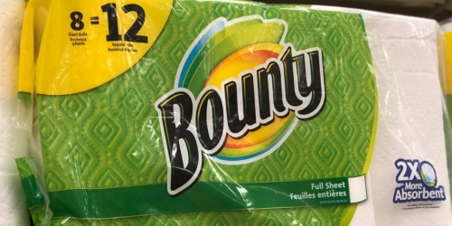 Bounty Select-A-Size Giant Rolls Paper Towels 8-Pack Just $9 at Office Depot/Office Max