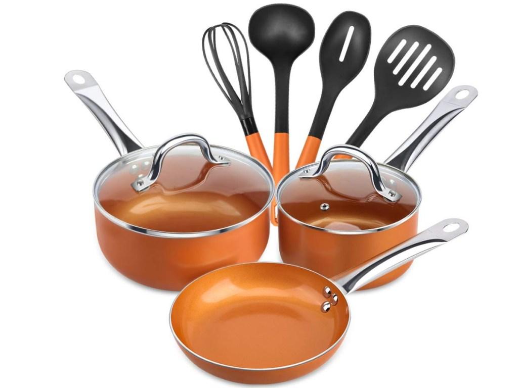 SHINEURI cookware set on amazon