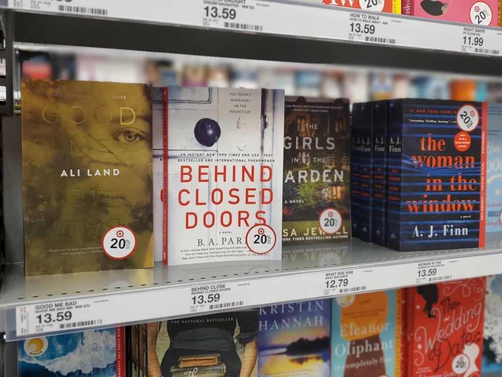 Adult books on Target shelf
