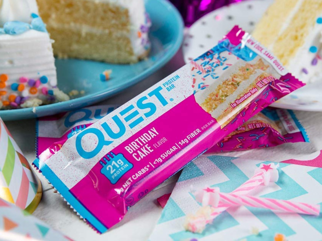 Quest Nutrition Bars Birthday Cake Flavor