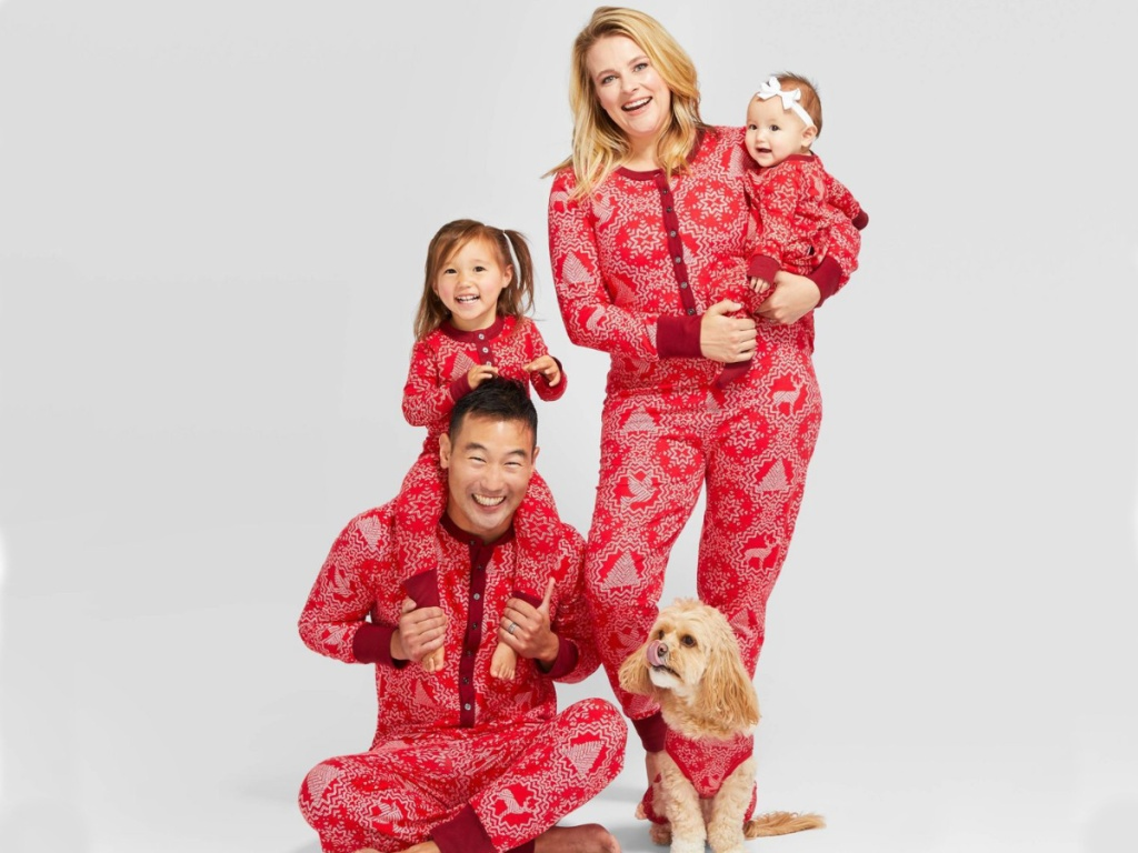 Hearth and Hand with Magnolia Holiday Family Pajama Sets with Matching Pet Outfit Collection