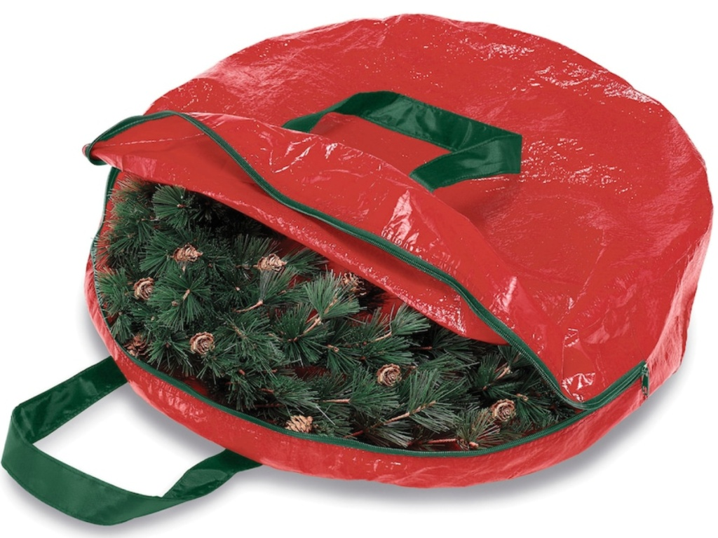 Whitmor Holiday Garland & Wreath Storage Bag