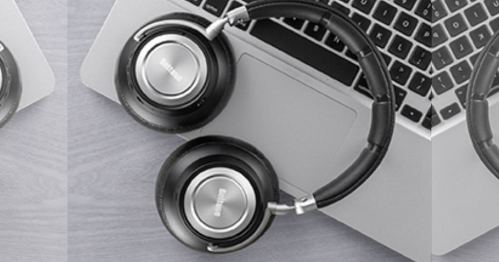 Boltune Noise Cancelling Bluetooth Headphones on macbook