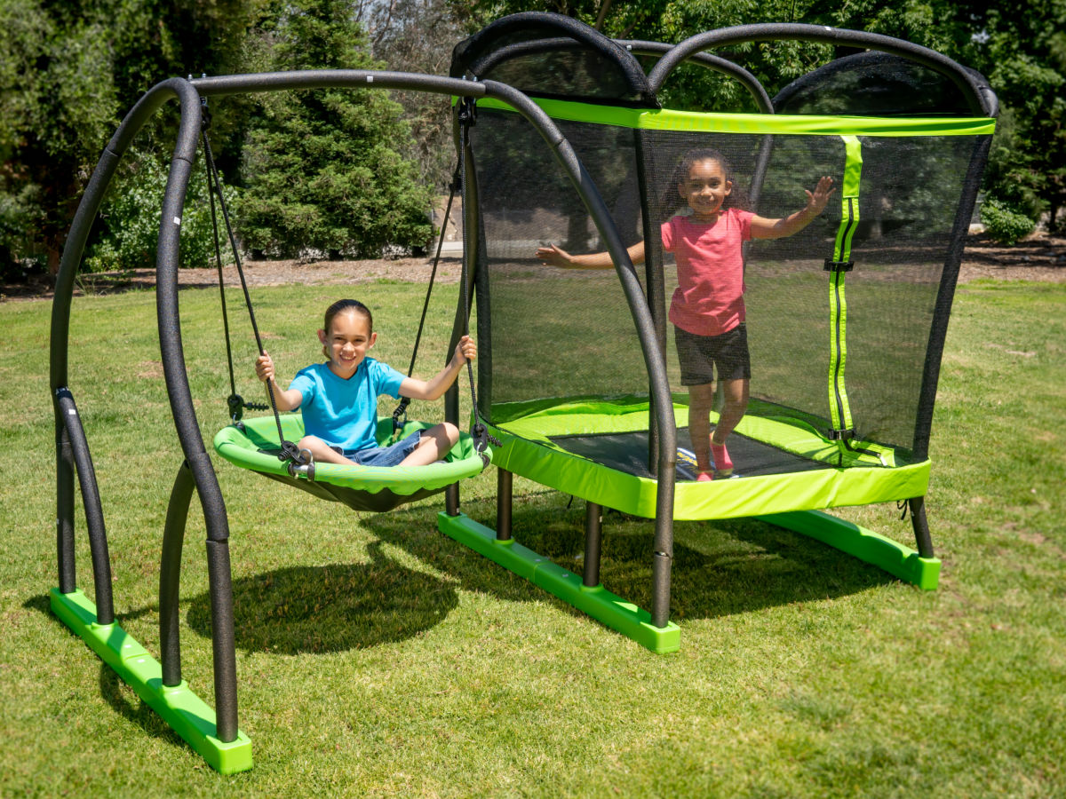 My First Trampoline W Saucer Swing Possibly Only 98 At Walmart Hip2save