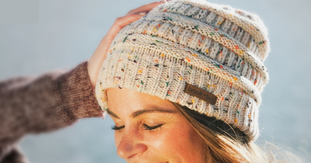 Brook + Bay Cable Knit Beanie