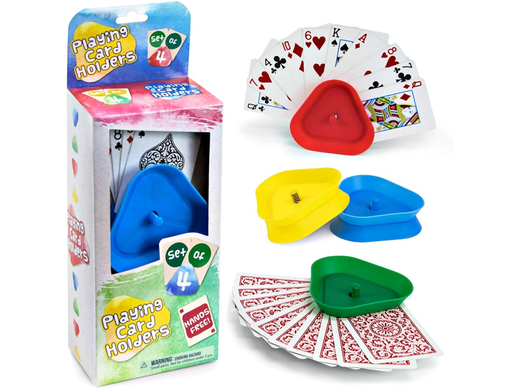 Brybelly Triangle Shaped Hands-Free Playing Card Holders