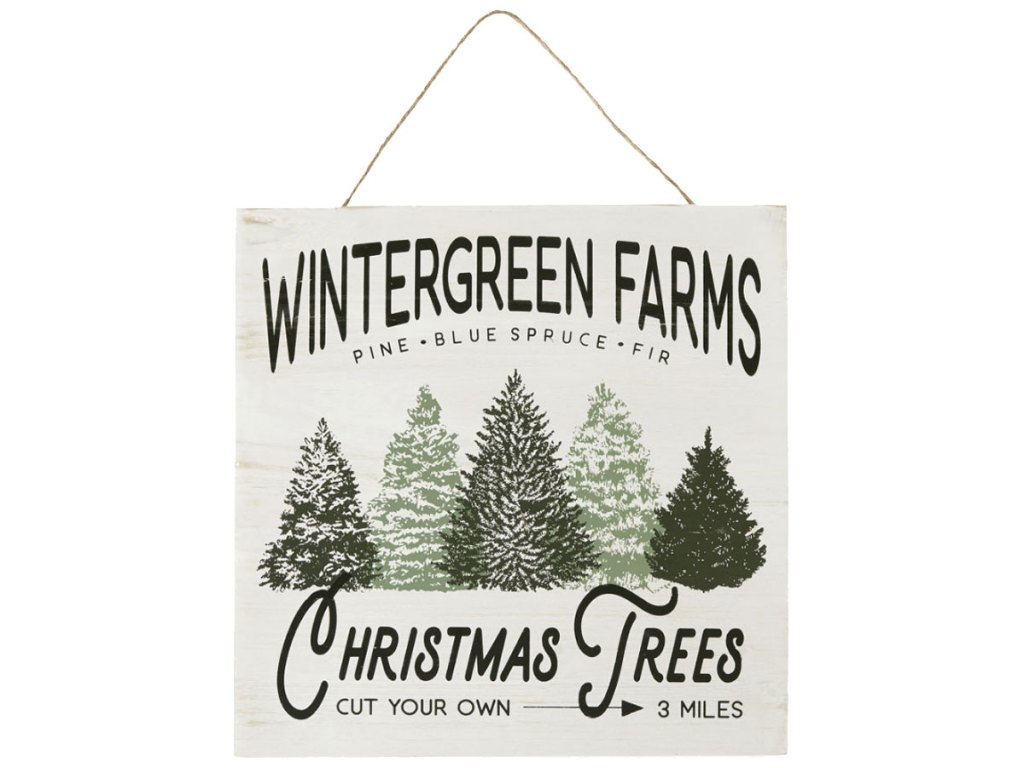 """North Pole Trading Co. 16"""" Wintergreen Farms Wall Sign"""