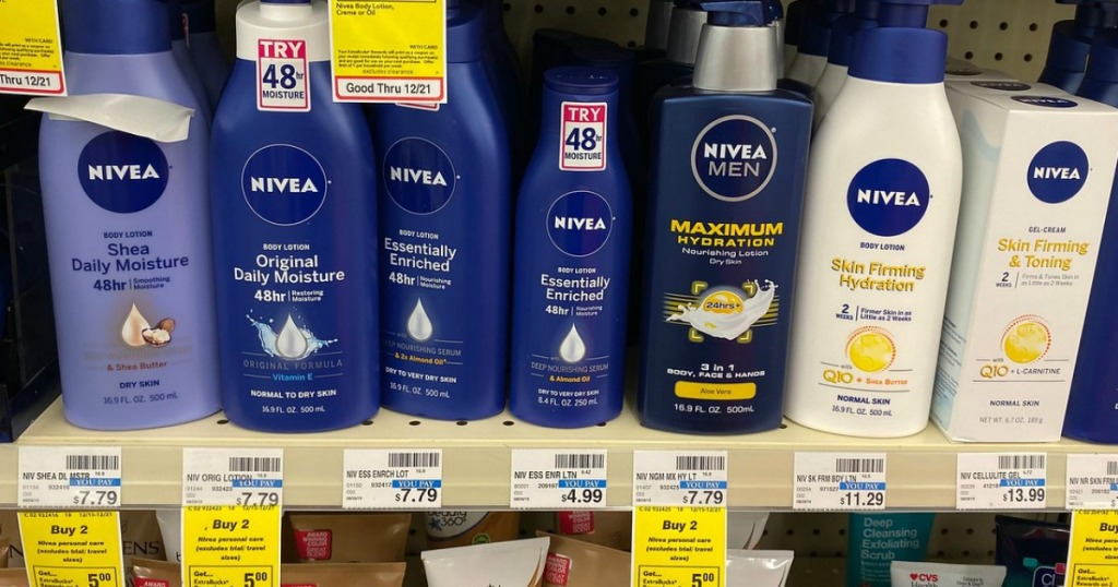 Nivea Skincare on CVS store shelf