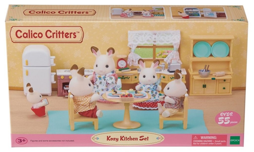 box of Calico Critters Deluxe Kozy Kitchen Set