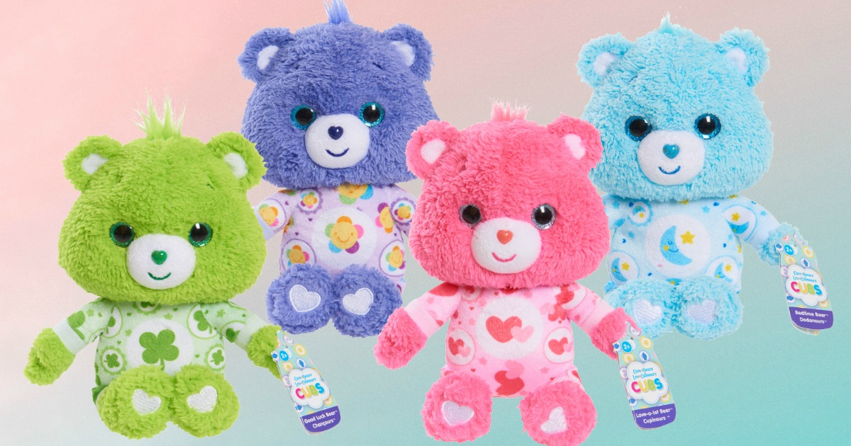 Small Care Bears Plush in four varieties