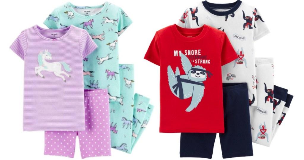 Carter's 4-Piece Pajama Sets