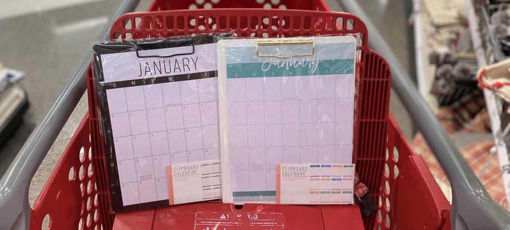 Clipboard Calendars in Target cart