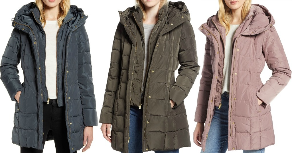 Cole Haan Women's Down Puffer Jackets in three colors