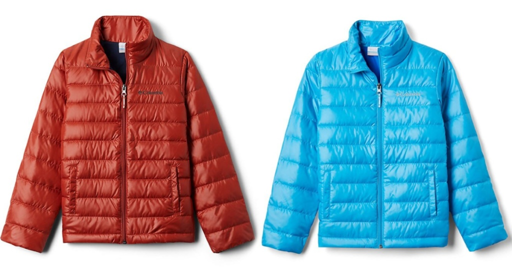 two kids columbia down jackets