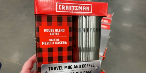 Craftsman Travel Mug & Coffee Gift Set Only $4.98 at Lowe's (Regularly $20)