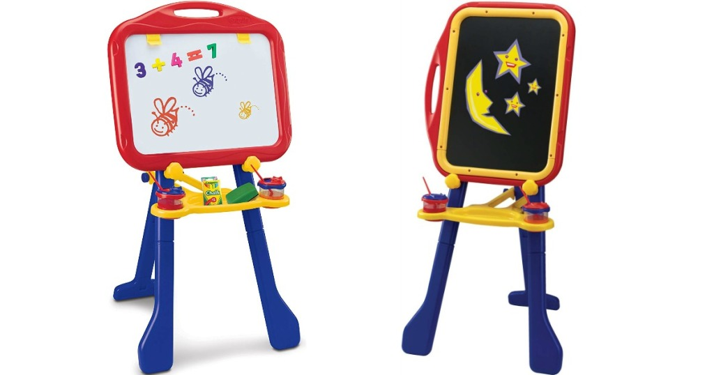 Crayola Tripod Easel with Dry-Erase Board and Chalkboard