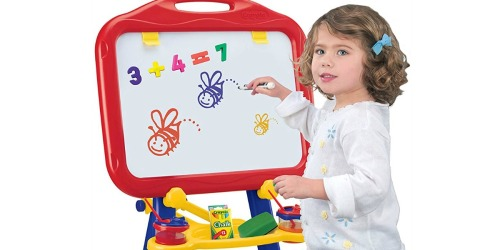 Crayola 4-in-1 Easel w/ Dry-Erase Board & Chalkboard Just $20 at Walmart.com   Folds for Travel & Storage