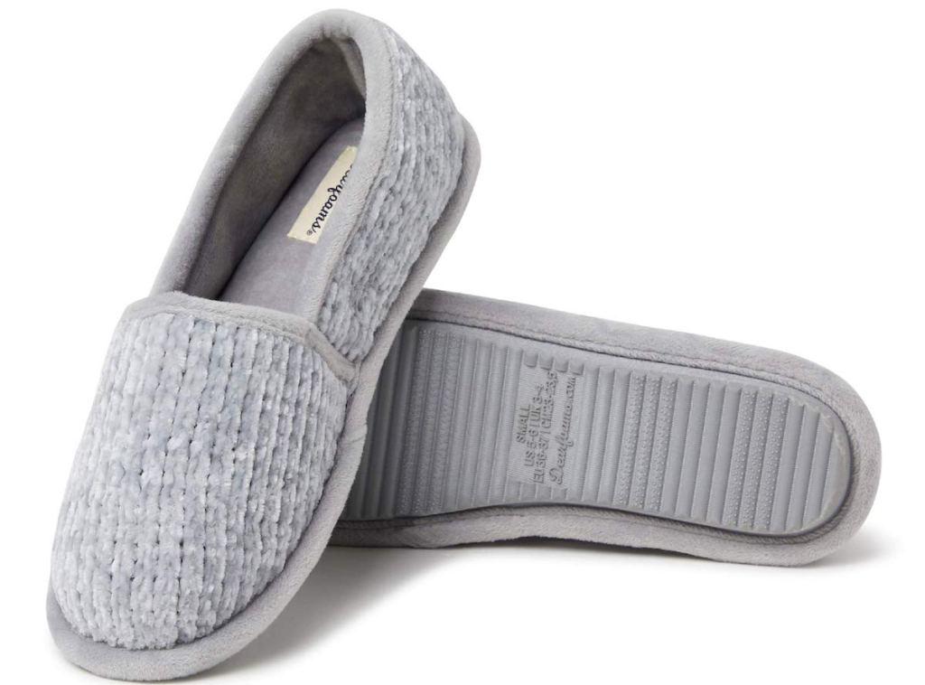 grey Dearfoams Women's Chenille A-line Slipper