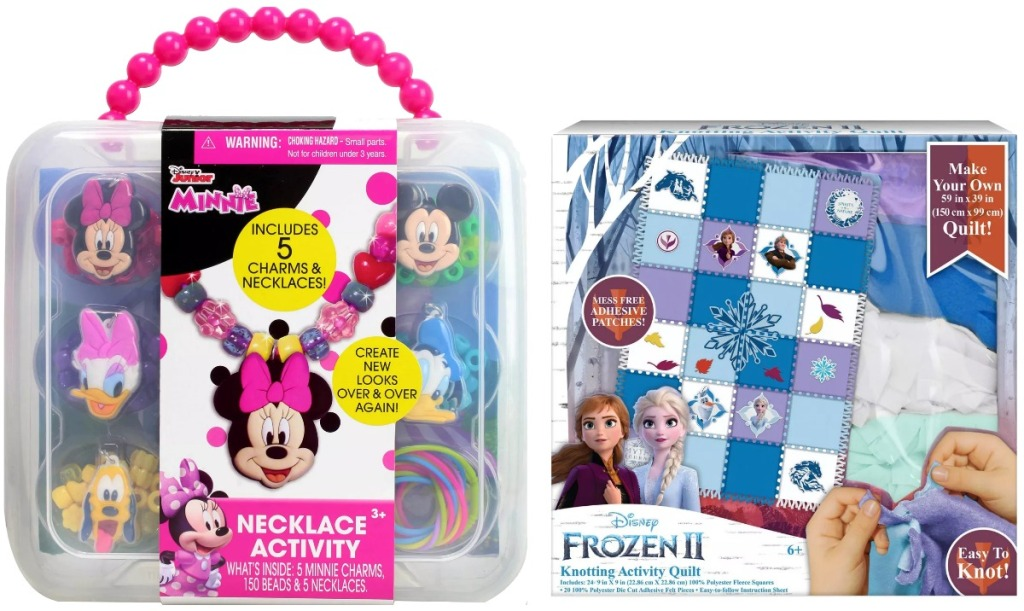 Two kids art and craft kits from Target - Minnie Mouse and Frozen