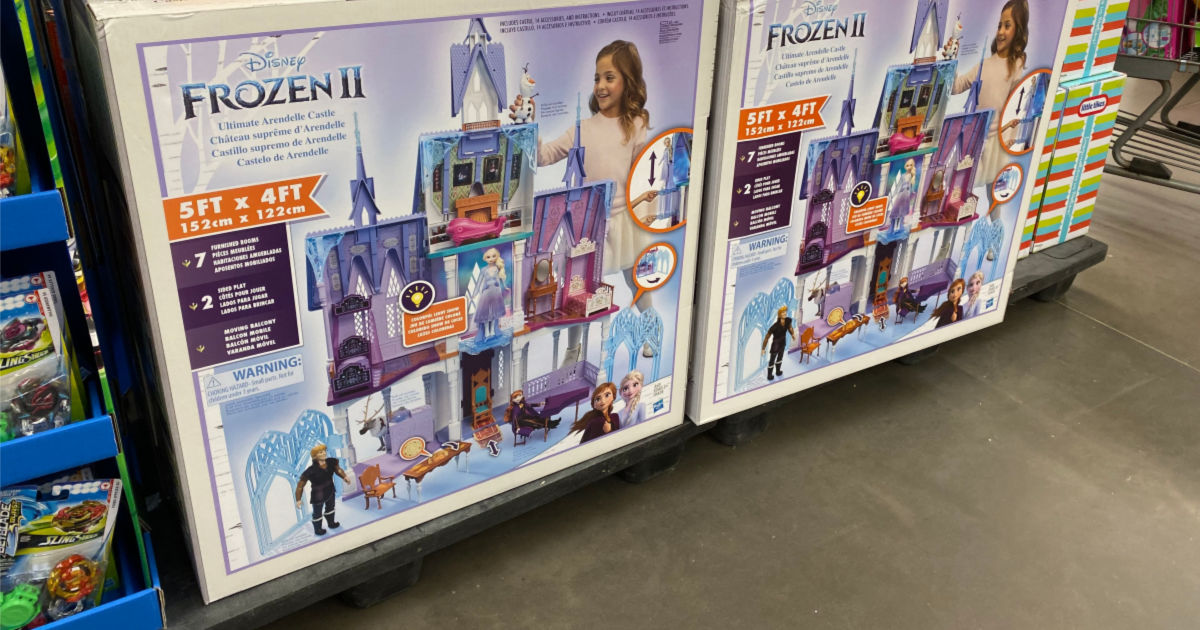 Disney Frozen 2 Ultimate Arendelle Castle Playset with Lights and Moving Balcony on shelf at walmart