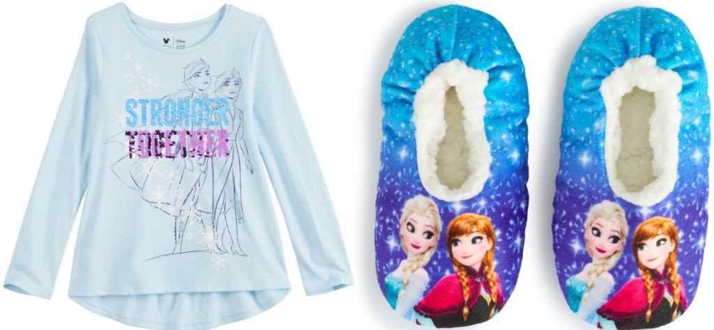 Disney Frozen Shirt and Slippers