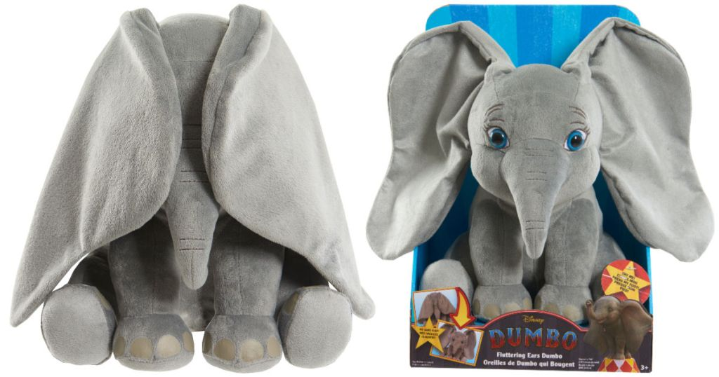 """Disney's Dumbo Fluttering Ears 13"""" Plush in box and with ears covering eyes"""