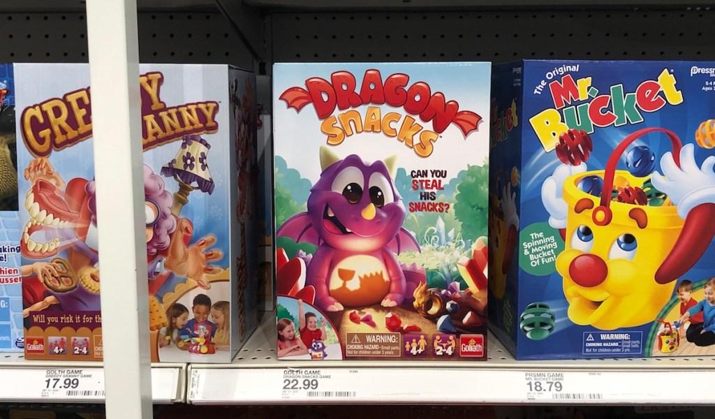 Dragon Snacks Game on shelf at Target