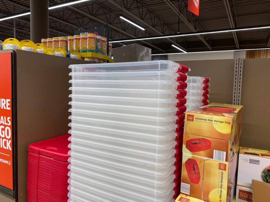 Easy Home Christmas 64-quart Latching Boxes at ALDI