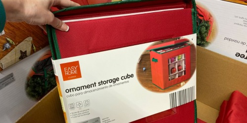 ALDI Has Great Deals on Holiday Storage Items | Perfect for Gift Wrap, Ornaments, Christmas Trees & More