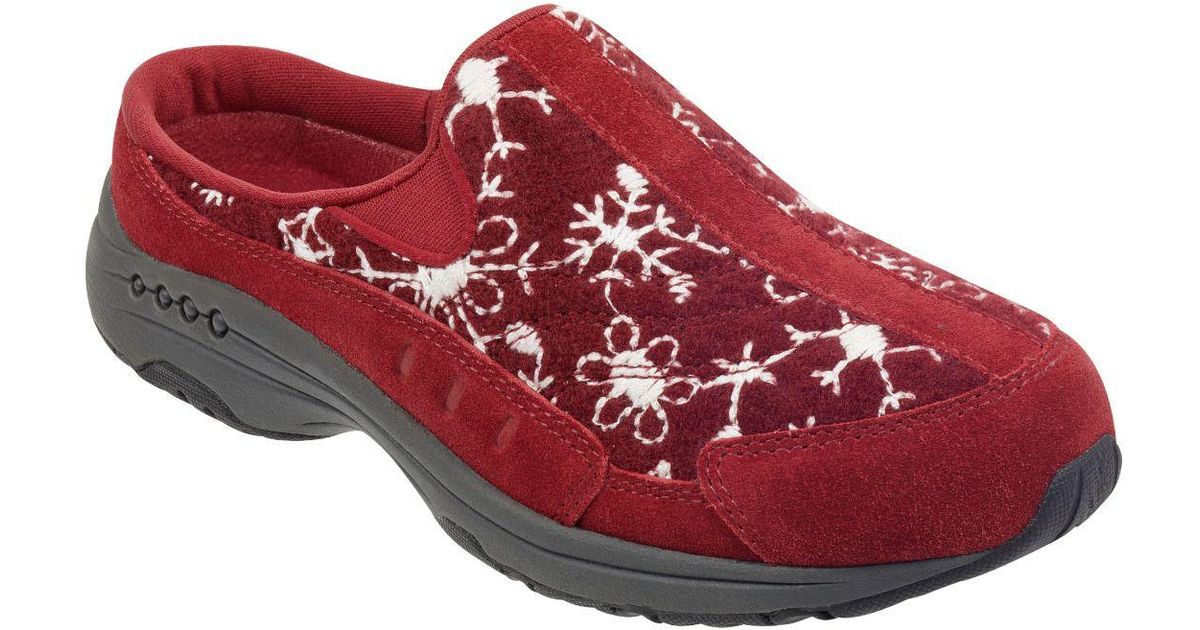 Easy Spirit Snowflake TravelTime Mules
