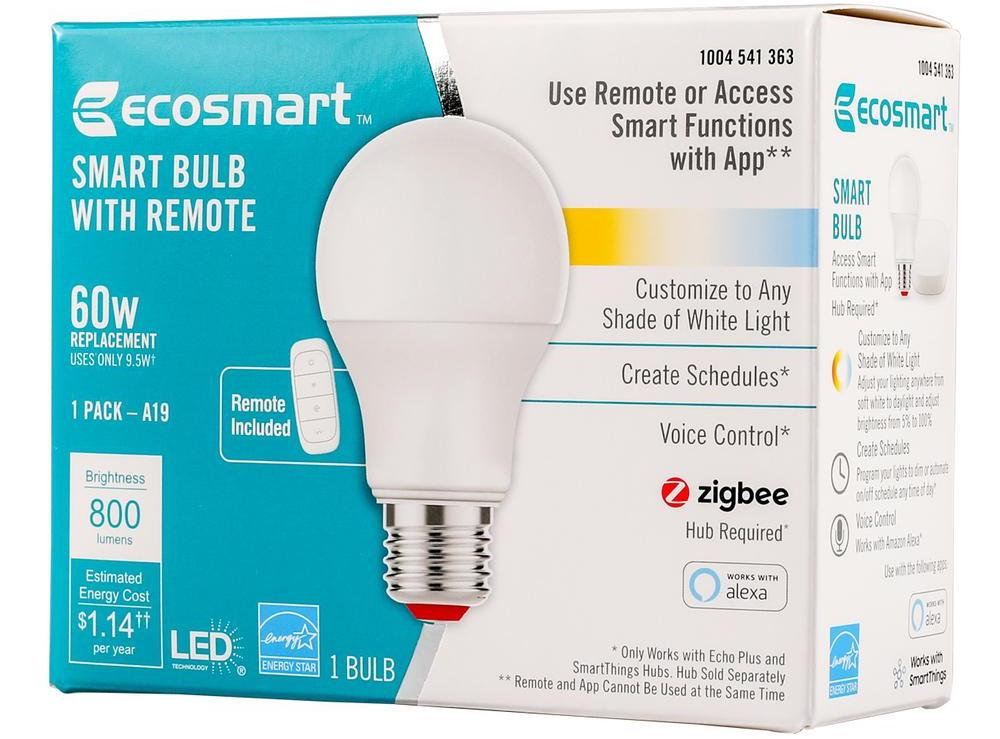 Ecosmart Smart Bulb with Remote